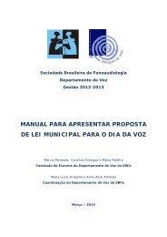 Manual com roteiro sobre como apresentar projeto de lei para Dia ...