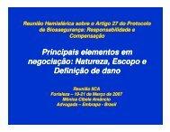 Principais elementos em negociação: Natureza, Escopo e ... - Inia