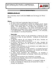 Informe epidemiológico dengue 03/01/2013 - Secretaria de Estado ...