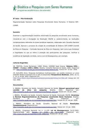 8ª Aula – Pós-Graduação Regulamentação Nacional sobre ... - Anis