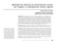 Aplicação dos sistemas de sensoriamento remoto por imagens e o ...