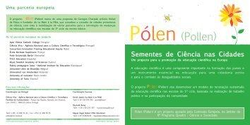 Pólen - Sementes de Ciência nas Cidades - Ciência Viva