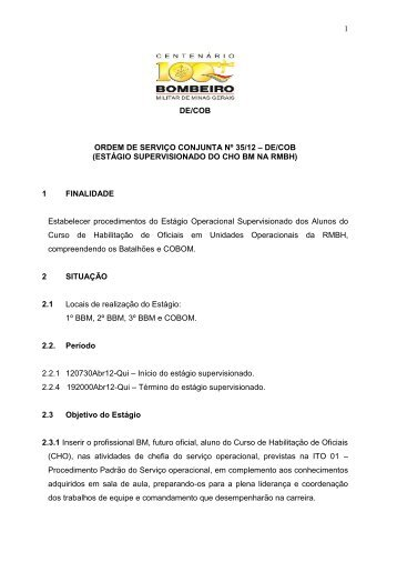 CORPO DE BOMBEIROS MILITAR