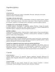 Engenharia Química - Ementa - UFF