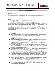Informe Epidemiológico Dengue 08/01 - Secretaria de Estado de ...