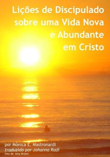 Lições de Discipulado sobre uma Vida Nova e Abundante em Cristo