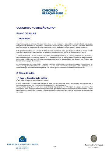 Plano de Aulas (PDF) - 253 Kb - Generation Euro