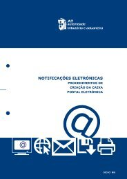 NOTIFICAÇÕES ELETRÓNICAS - Portal das Finanças