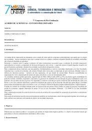 ESTUDOS PRELIMINARES - Unimep