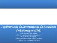 TÍTULO DA PALESTRA - BVS Ministério da Saúde