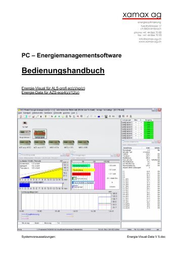 PC – Energiemanagementsoftware ... - xamax ag | über xamax