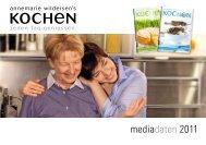 mediadaten 2011 - Annemarie Wildeisen's KOCHEN