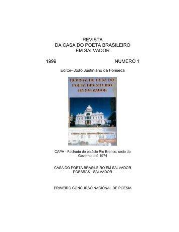 revista da casa do poeta brasileiro em salvador - joão justiniano da ...
