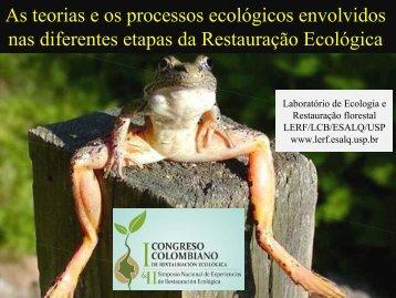 As teorias e os processos ecológicos envolvidos nas ... - LERF - USP
