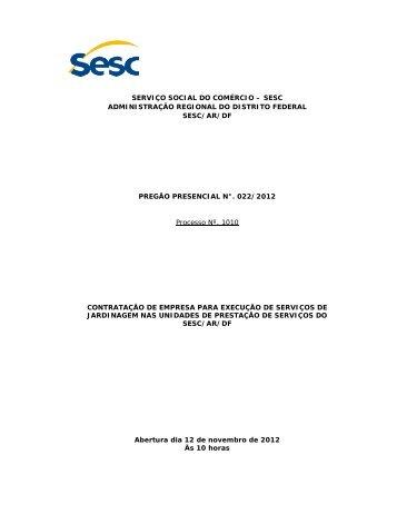 Download do Edital - Sesc