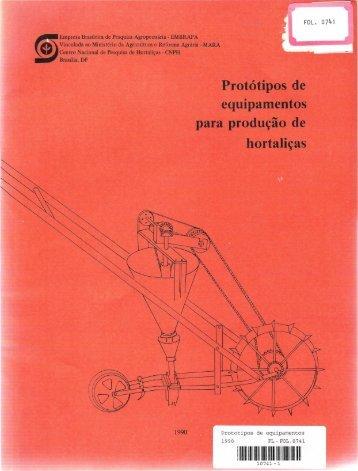 Protótipos de equipamentos para produção de ... - Ainfo - Embrapa