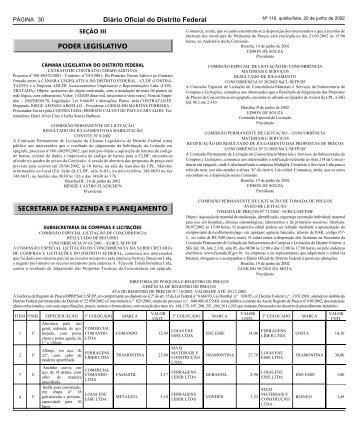 Seção 3 - Governo do Distrito Federal