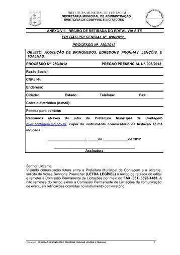PREGÃO PRESENCIAL - Prefeitura de Contagem