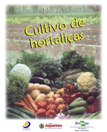 Projeto horta solidária : cultivo de hortaliças - Embrapa