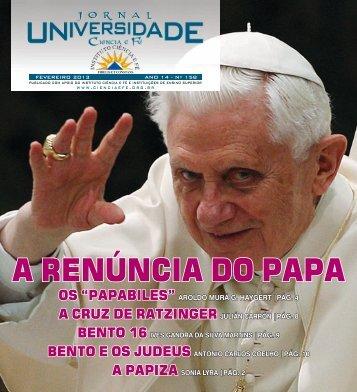 EDIÇÃO 158 FEVEREIRO de 2013 - Instituto Ciência e Fé