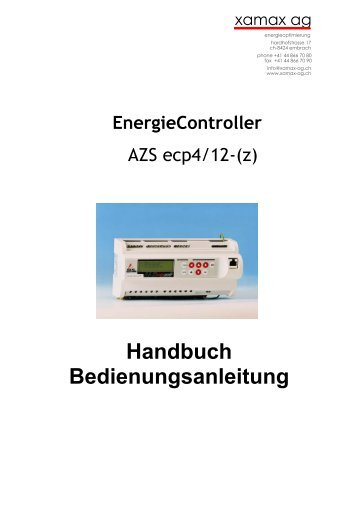 Handbuch Bedienungsanleitung - xamax ag | über xamax