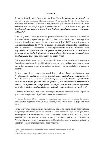 RUIANA II Afonso Arinos de Melo Franco, no seu ... - aner emrevista