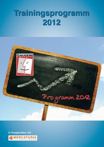 Trainingsprogramm 2012 - 3e AG