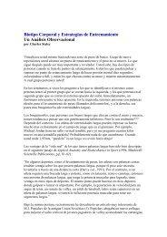 Biotipo Corporal y Estrategias de Entrenamiento ... - Fuerza y Potencia
