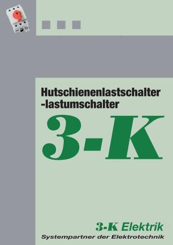 Hutschienenlastschalter -lastumschalter - 3-K-Elektrik