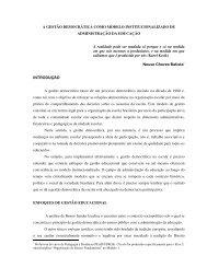 A Gestão Democrática como Modelo Institucionalizado de ...