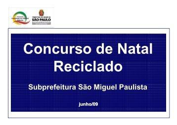 Concurso Natal Reciclado - Prefeitura de São Paulo
