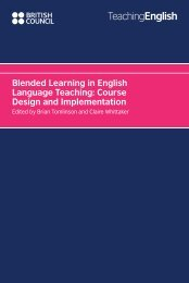 Blended Learning in English Language Teaching: Course Design and Implementation