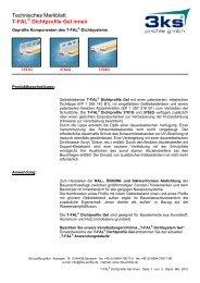 Technisches Merkblatt T-FAL Dichtprofile Gel innen - 3ks profile gmbh