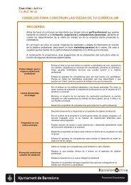 Consejos para construir las piezas de tu curriculum