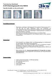 D-SYS Dehnfugenprofil S für WDVS - 3ks profile gmbh