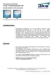 Technisches Merkblatt T-FAL Trockenbauprofil LTB - 3ks profile gmbh