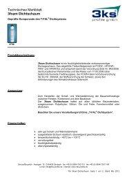 Technisches Merkblatt 3foam Dichtschaum - 3ks profile gmbh