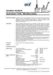 SCHEDA TECNICA Guarnizioni T-FAL BS (falso ... -  3ks profile gmbh