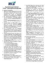 Verarbeitungsrichtlinien T-FAL ... - 3ks profile gmbh