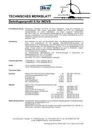 TECHNISCHES MERKBLATT Dehnfugenprofil S ... - 3ks profile gmbh