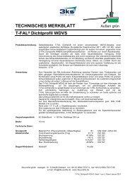 T-FAL Dichtprofil WDVS  - 3ks profile gmbh