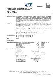 TECHNISCHES MERKBLATT T-FAL Flex - 3ks profile gmbh