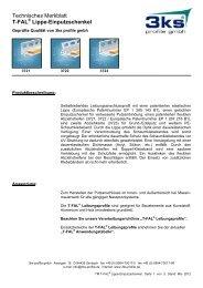 T-FAL Lippe-Einputzschenkel - 3ks profile gmbh