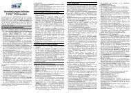 Verarbeitungsrichtlinien T-FAL Dichtsystem - 3ks profile gmbh