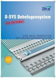 D-SYS Dehnfugensystem - Das komplette Prospekt - 3ks profile gmbh
