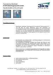 D-SYS Dehnfugenprofil Combi - 3ks profile gmbh