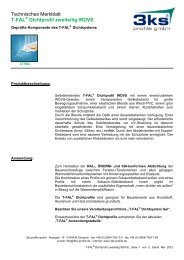 T-FAL Dichtprofil zweiteilig WDVS - 3ks profile gmbh