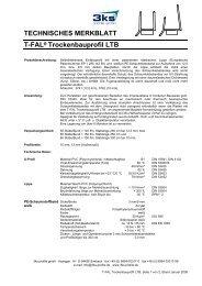 Trockenbauprofil LTB - 3ks profile gmbh