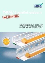 T-FAL® tesnilni sistem - 3ks profile gmbh
