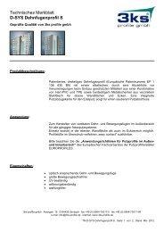 Technisches Merkblatt D-SYS Dehnfugenprofil S - 3ks profile gmbh